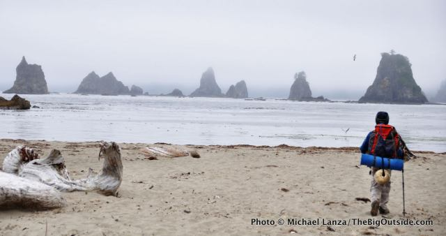 """Backpacking the Olympic coast, one of """"My Top 10 Family Adventures."""""""