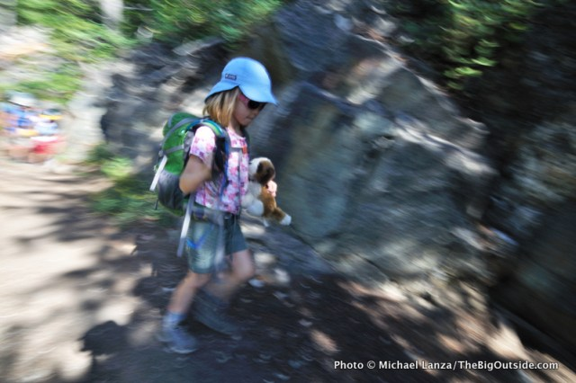My daughter, Alex, age 8, on a backpacking trip in Grand Teton National Park.