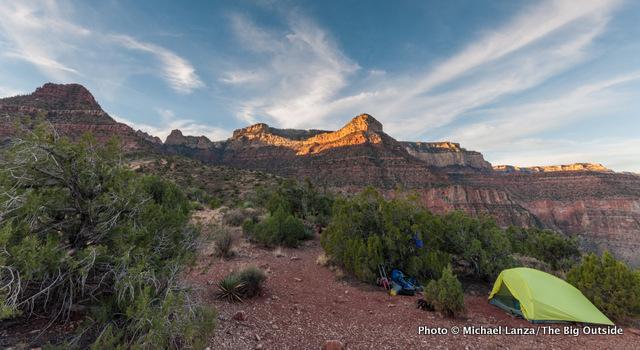 Dawn at Horseshoe Mesa in the Grand Canyon.