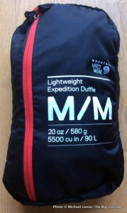 Mountain Hardwear Lightweight Expedition Duffel stuffed