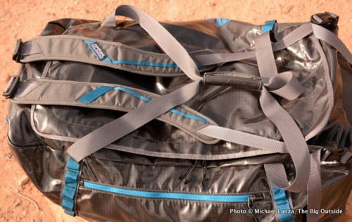 Patagonia Black Hole Duffel top.