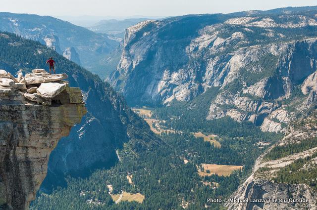 Mark Fenton atop Half Dome in Yosemite National Park.