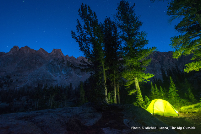 The Exped Mira II Hyperlite tent in Idaho's White Cloud Mountains.