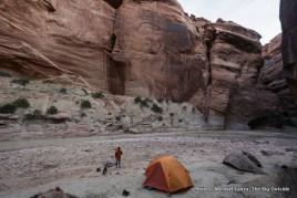 First campsite, Paria Canyon.