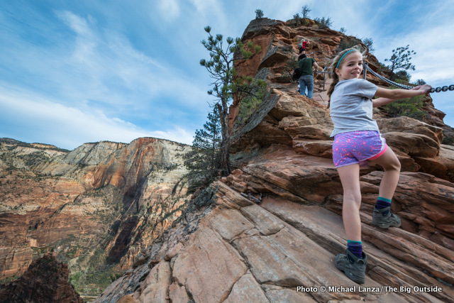 My daughter, Alex, hiking Angels Landing, Zion National Park.