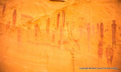 Pictographs in Horseshoe Canyon District, Canyonlands National Park.
