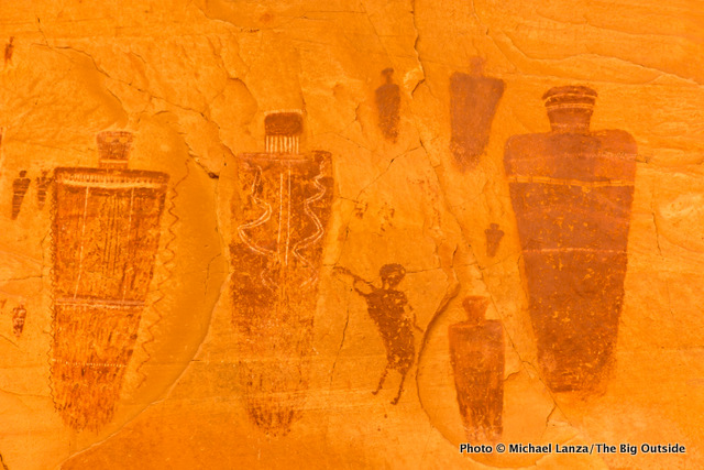 Another detail from the Great Gallery in Horseshoe Canyon.