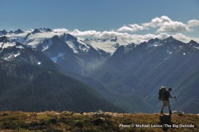 Northern Bailey Range, Mount Olympus in background, Olympic National Park.