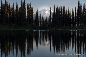Image Lake and Glacier Peak, Glacier Peak Wilderness, Washington.