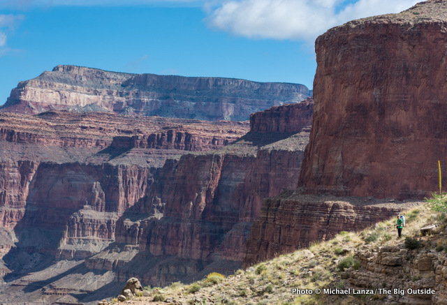 Above Royal Arch Canyon on the Royal Arch Loop in the Grand Canyon.