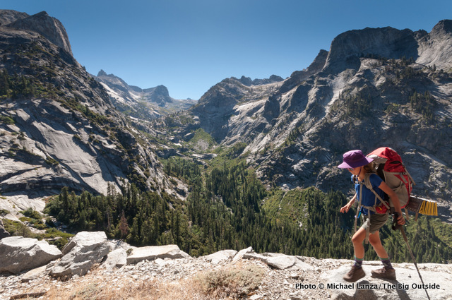 My daughter, Alex, hiking the High Sierra Trail, Sequoia National Park.