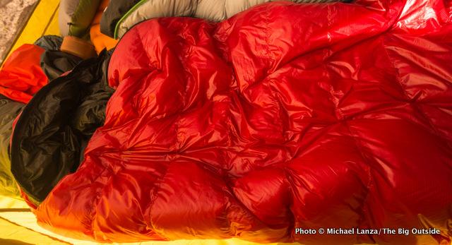 Western Mountaineering Summerlite sleeping bag.