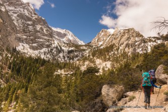 Hiking the Mount Whitney Trail.