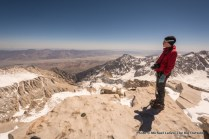 Nate on summit of Mount Whitney.