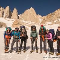 Nate, me, John Kelly, Frank Weber, Nick Ornella, Molly Baab, Tim Brosnan, below Mount Whitney.