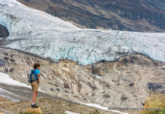 Below the Emerald Glacier on the Iceline Trail, Yoho National Park, Canada.