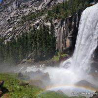 Rainbow at Vernal Fall, Yosemite National Park.
