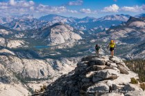 Hiking over Clouds Rest, Yosemite National Park.