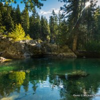 Pond on Clear Creek, North Cascades National Park.