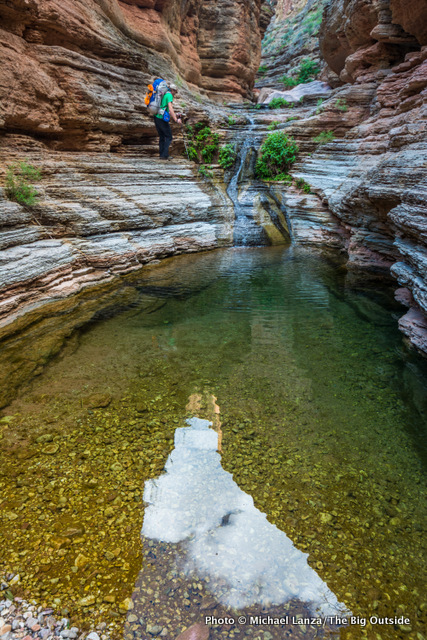 Kris Wagner backpacking the Royal Arch Loop in the Grand Canyon.
