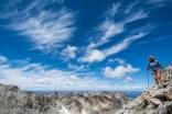 Descending off Thompson Peak.