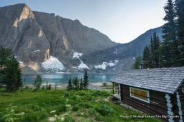 Floe Lake warden cabin.