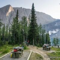 Floe Lake camping area.