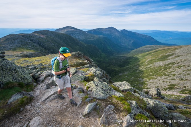 Nate hiking Mount Washington, Presidential Range, N.H.