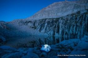 Campsite at Precipice Lake, Sequoia National Park.