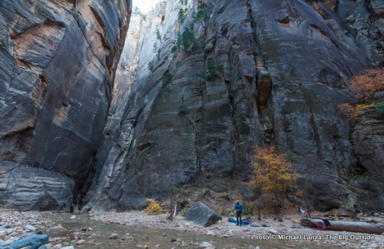 Campsite one in The Narrows, Zion National Park.