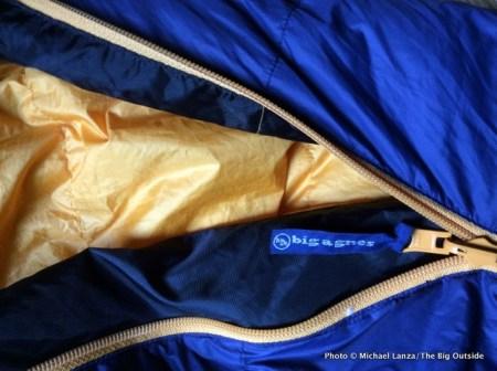 Big Agnes Boot Jack 25 zipper.
