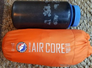 Big Agnes Insulated Air Core Ultra air mattress packed.