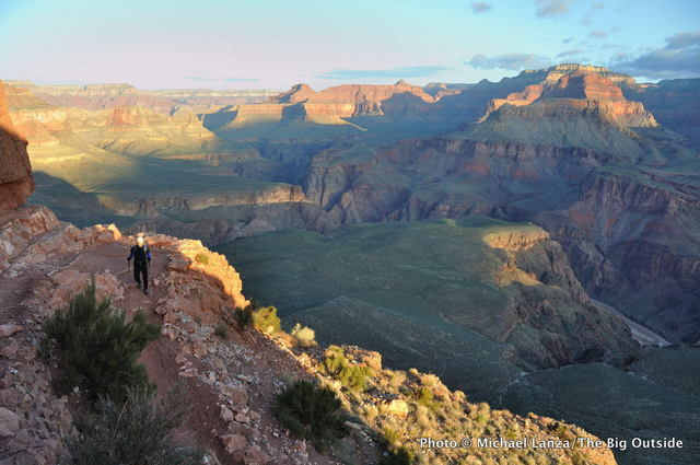 Hiking the South Kaibab Trail in the Grand Canyon.