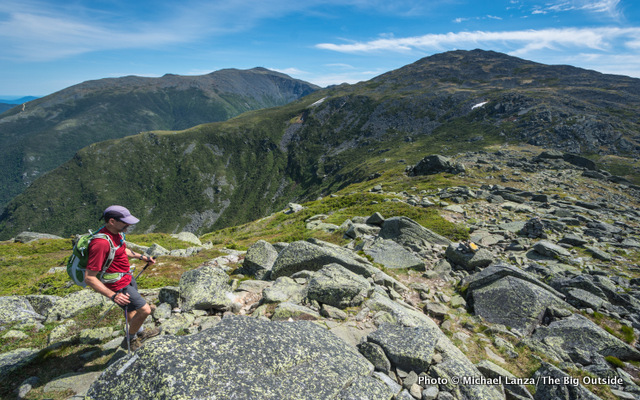 Mark Fenton hiking in the Presidential Range, N.H.