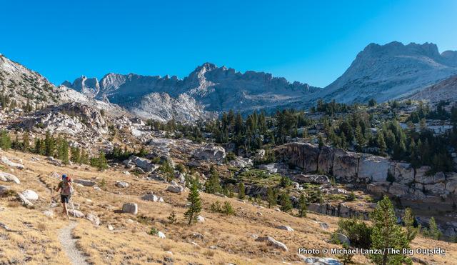 Todd Arndt hiking up Matterhorn Canyon in Yosemite National Park.