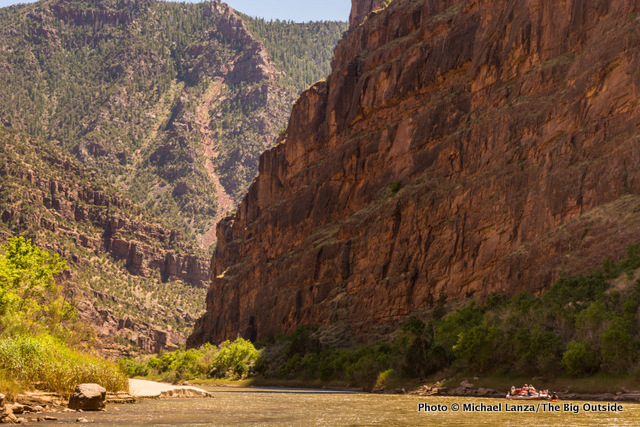 Rafting Lodore Canyon on the Green River in Dinosaur National Monument.