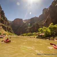 Our rafting and kayaking party in Lodore Canyon, Dinosaur National Monument.
