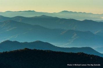 View along Appalachian Trail, Great Smoky Mountains National Park.