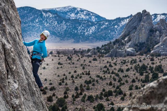 Rock climbing at Castle Rocks State Park, Idaho.