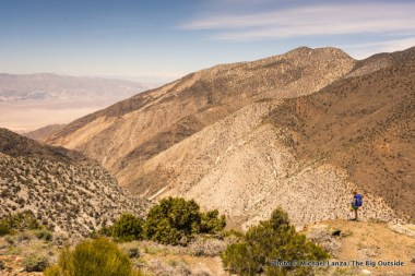 Hiking above Panamint City.