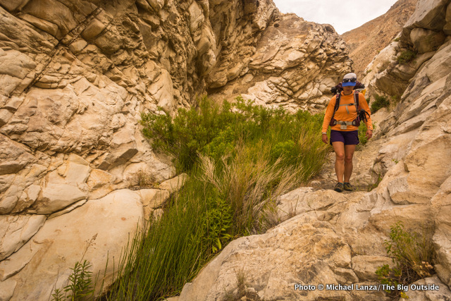 Katie Hughes in Surprise Canyon, Death Valley National Park.