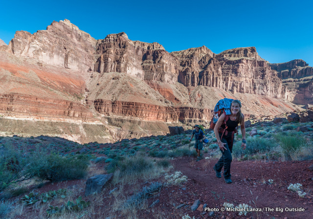 Lisa and Mark Fenton on the Tonto Trail in the Grand Canyon.