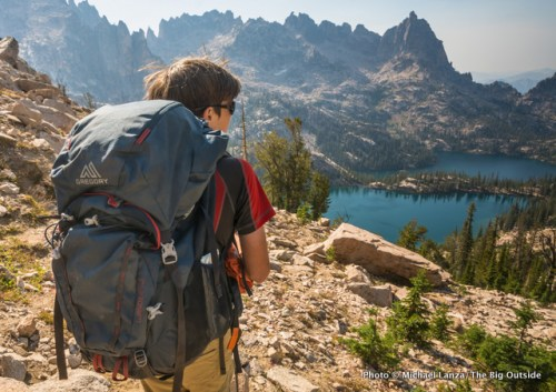 The Gregory Wander 70 in Idaho's Sawtooth Mountains.