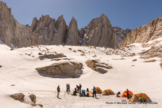 High camp at 12,000 feet below Mount Whitney.