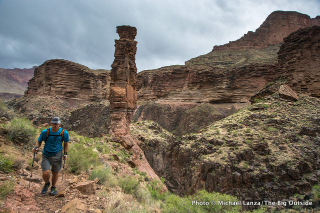 David Ports on the Tonto Trail, Grand Canyon National Park.