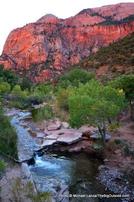 La Verkin Creek in Zion's Kolob Canyons.
