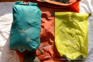 Osprey Ultralight Dry Sacks.