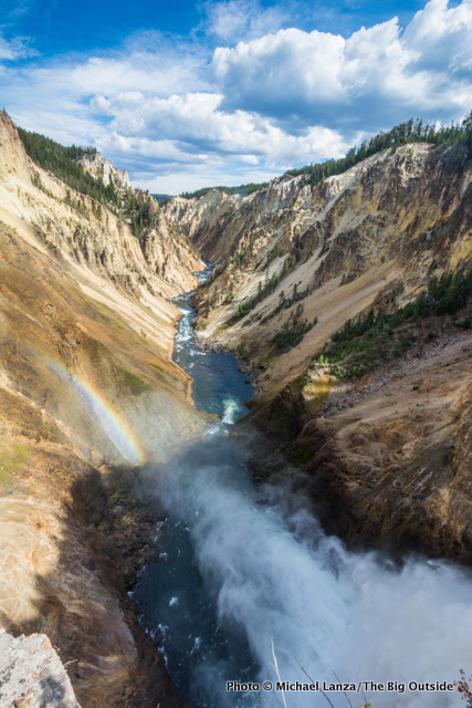 The Grand Canyon of the Yellowstone River, from the brink of Lower Yellowstone Falls.
