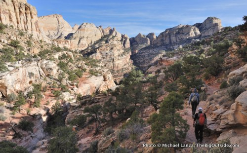 The Golden Throne Trail, Capitol Reef National Park.