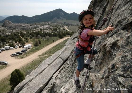 Alex, 6, at Idaho's City of Rocks National Reserve.